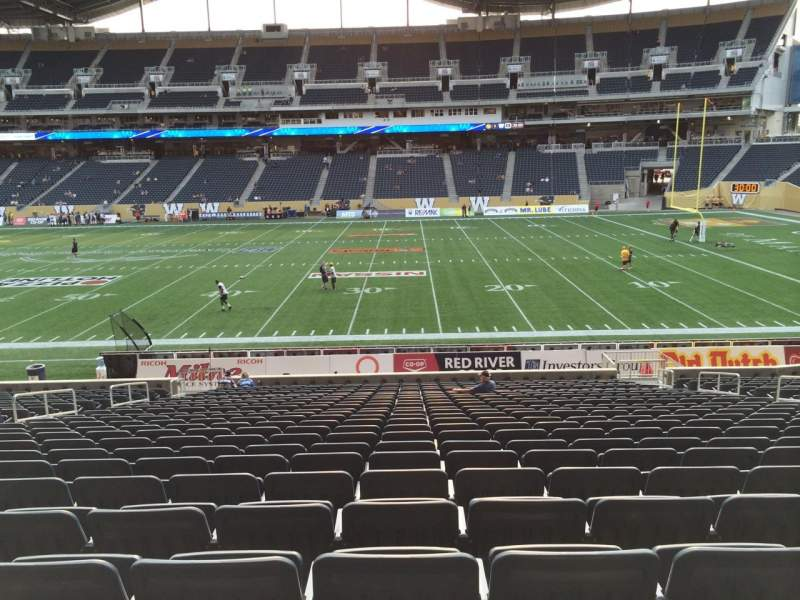 Seating view for Investors Group Field Section 105 Seat 14