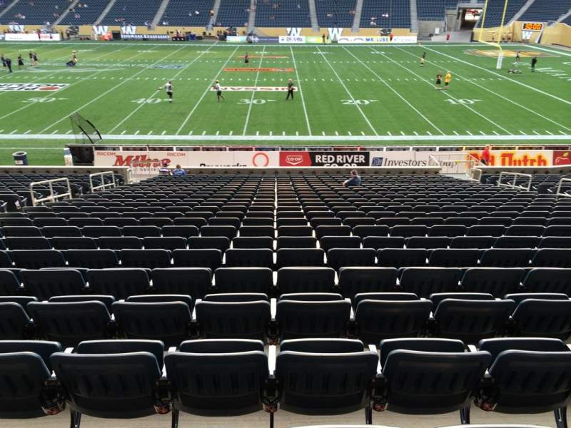 Seating view for Investors Group Field Section 105 Row 24 Seat 15