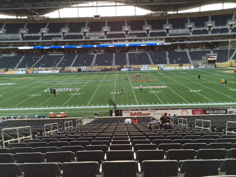 Seating view for Investors Group Field Section 106 Row 27 Seat 7