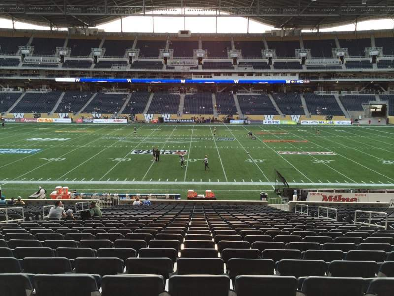 Seating view for Investors Group Field Section 106 Seat 9