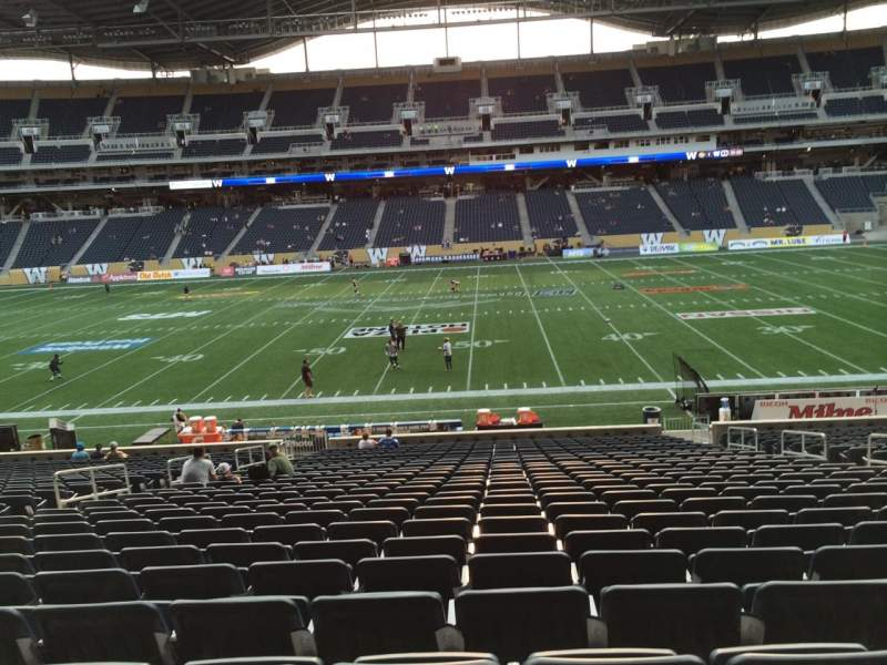 Seating view for Investors Group Field Section 106 Row 27 Seat 9