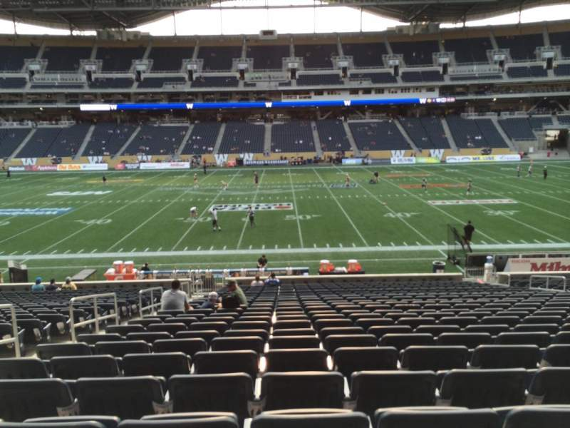 Seating view for Investors Group Field Section 107 Row 24 Seat 15