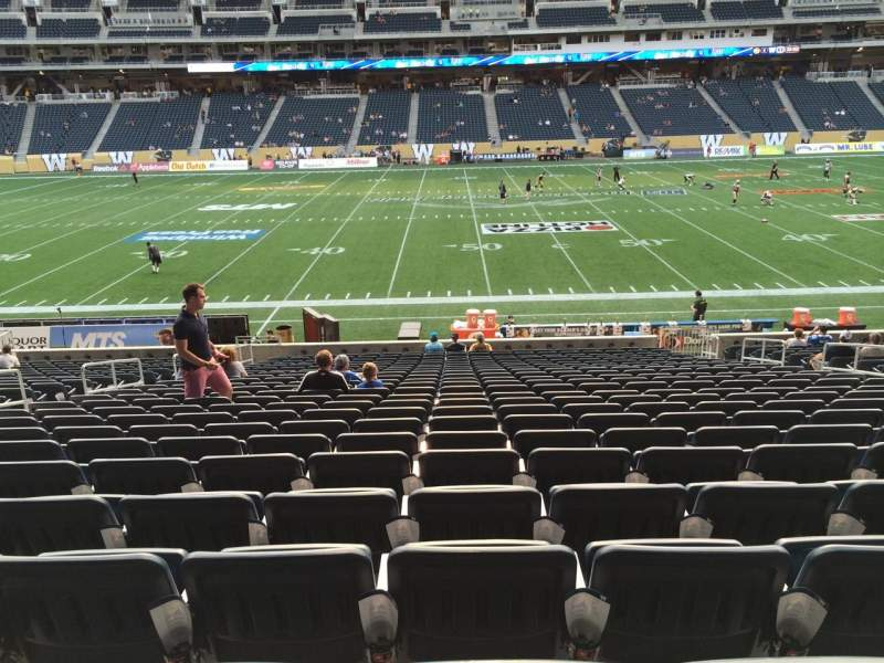 Seating view for Investors Group Field Section 108 Row 24 Seat 10
