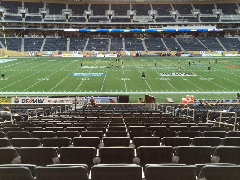 Seating view for Investors Group Field Section 109 Seat 6