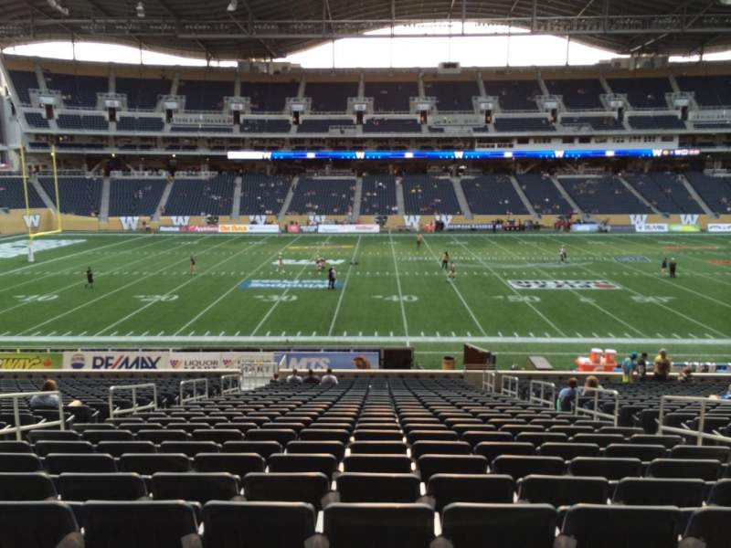 Seating view for Investors Group Field Section 109 Row 27 Seat 6