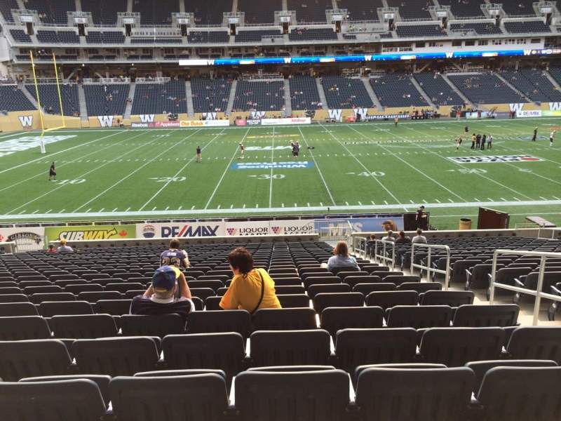 Seating view for Investors Group Field Section 110 Row  24 Seat 4