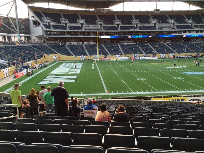 Seating view for Investors Group Field Section 112 Row 24 Seat 16
