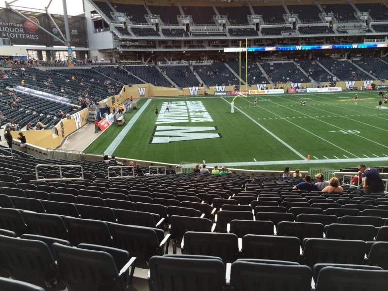 Seating view for Investors Group Field Section 113 Row 24 Seat 8