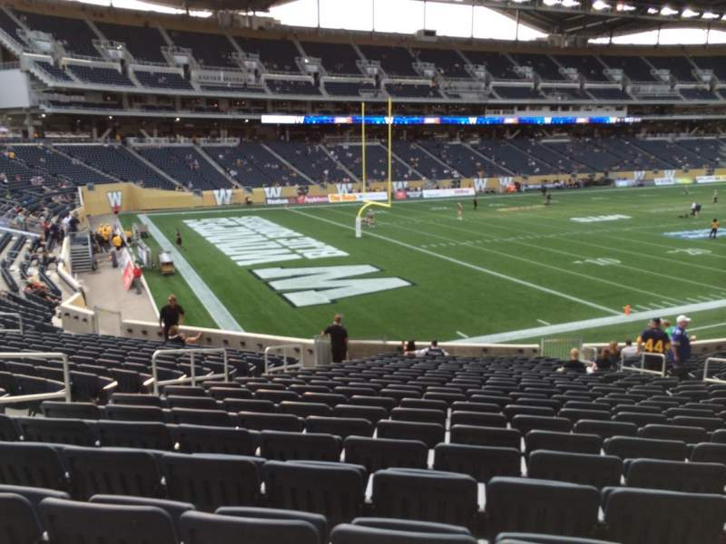 Seating view for Investors Group Field Section 114 Row 24 Seat 13