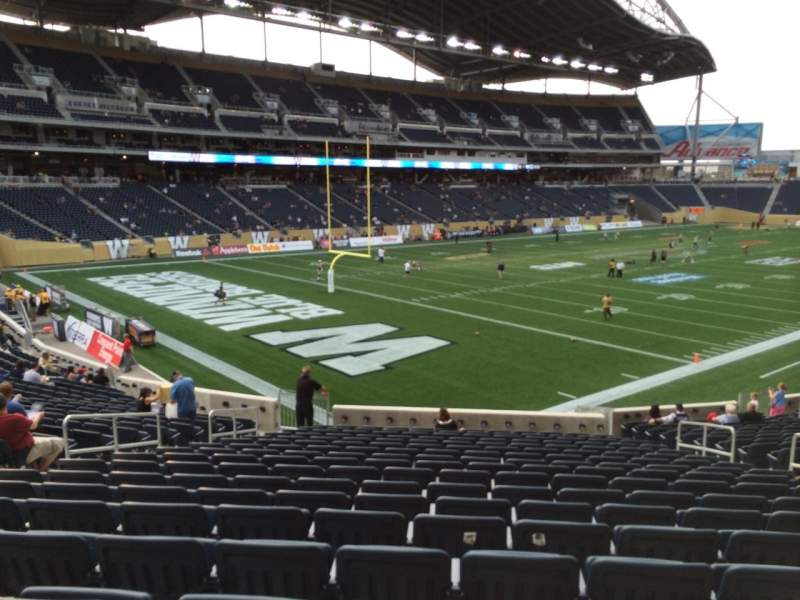 Seating view for Investors Group Field Section 115 Row  24 Seat  9