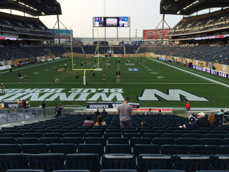 Seating view for Investors Group Field Section 118 Row 23 Seat 10