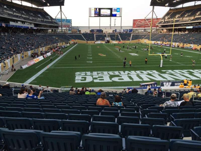 Seating view for Investors Group Field Section 120 Row 24 Seat 9