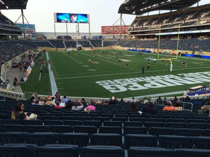 Seating view for Investors Group Field Section 121 Row 23 Seat 9