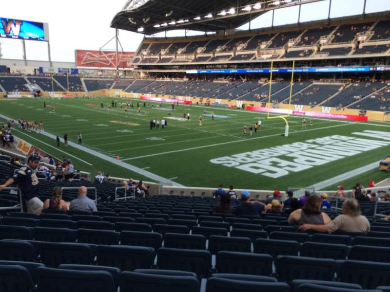 Seating view for Investors Group Field Section 122 Row 25 Seat 10