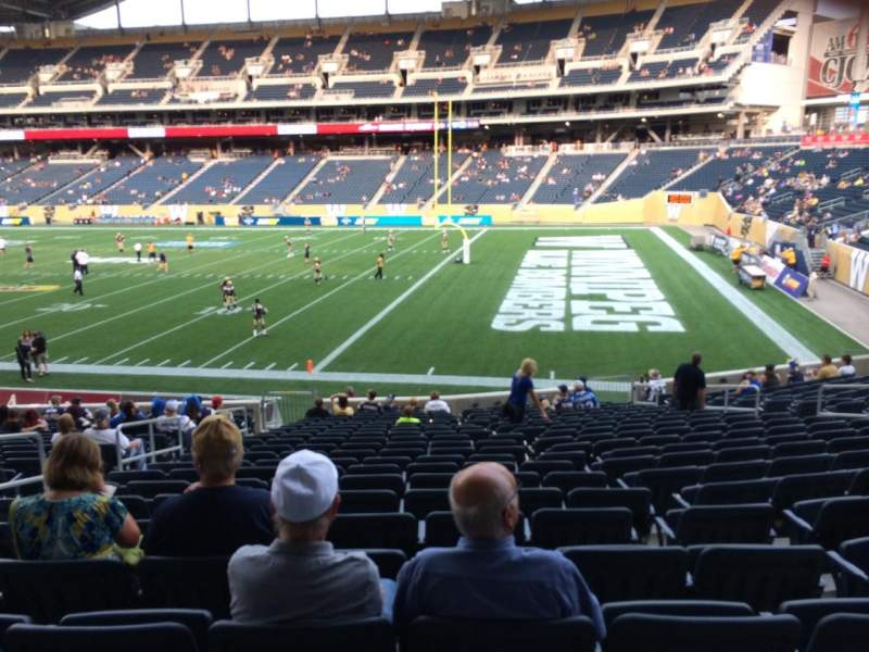 Seating view for Investors Group Field Section 124 Row 21 Seat 13