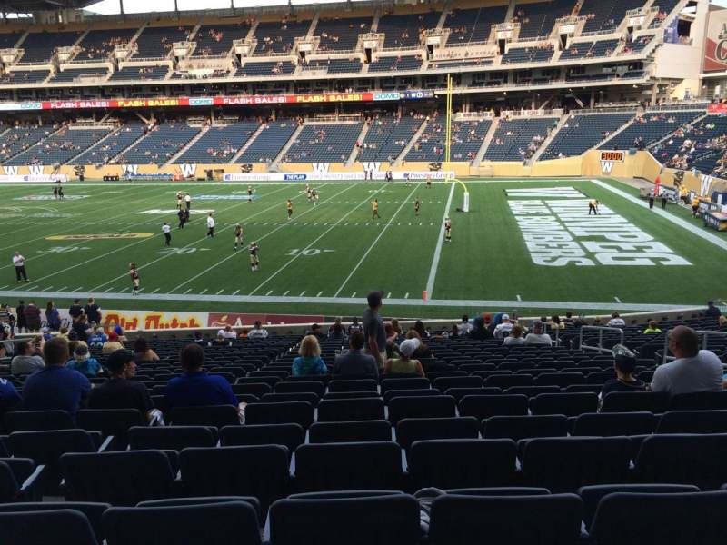 Seating view for Investors Group Field Section 125 Row 24 Seat 8