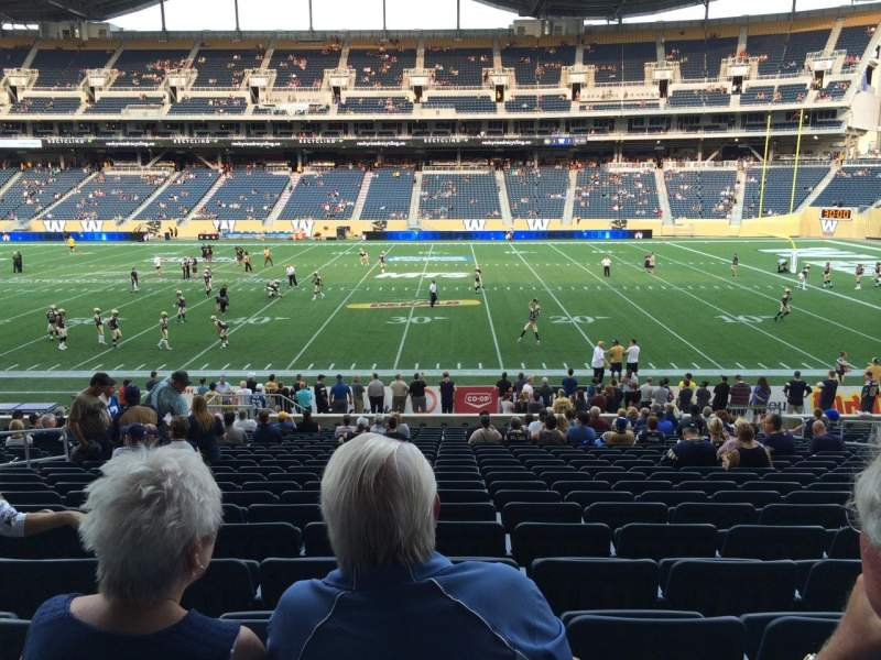 Seating view for Investors Group Field Section 127 Row 22 Seat 13