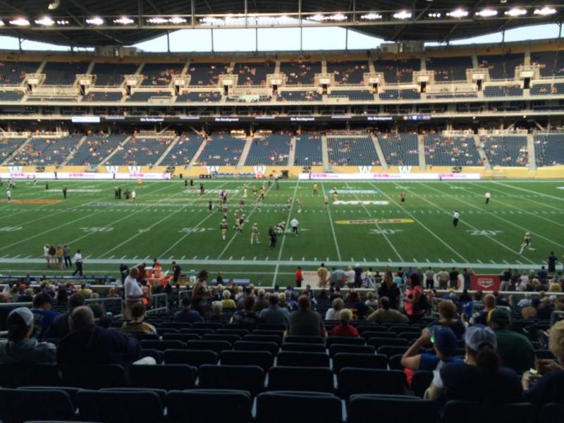Seating view for Investors Group Field Section 128 Row 26 Seat 6