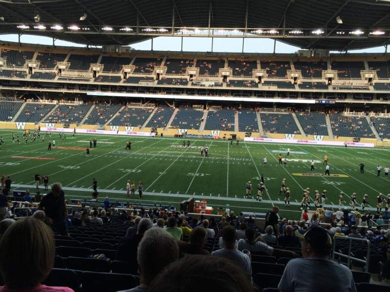 Seating view for Investors Group Field Section 129 Row 27 Seat 4