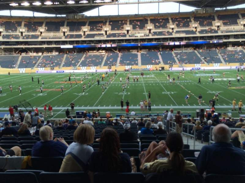 Seating view for Investors Group Field Section 130 Row 24 Seat 2