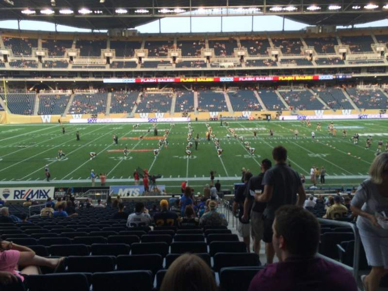 Seating view for Investors Group Field Section 131 Row 27 Seat 2