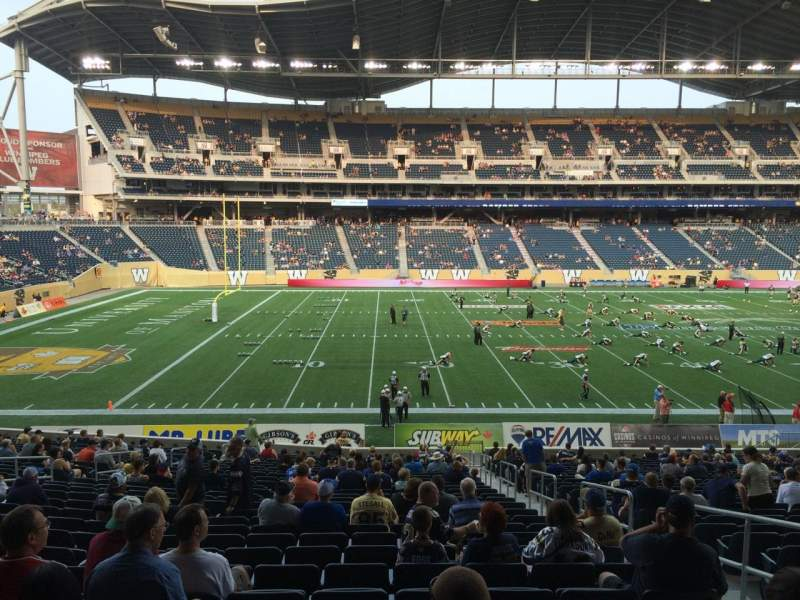 Seating view for Investors Group Field Section 133 Row 28 Seat 4