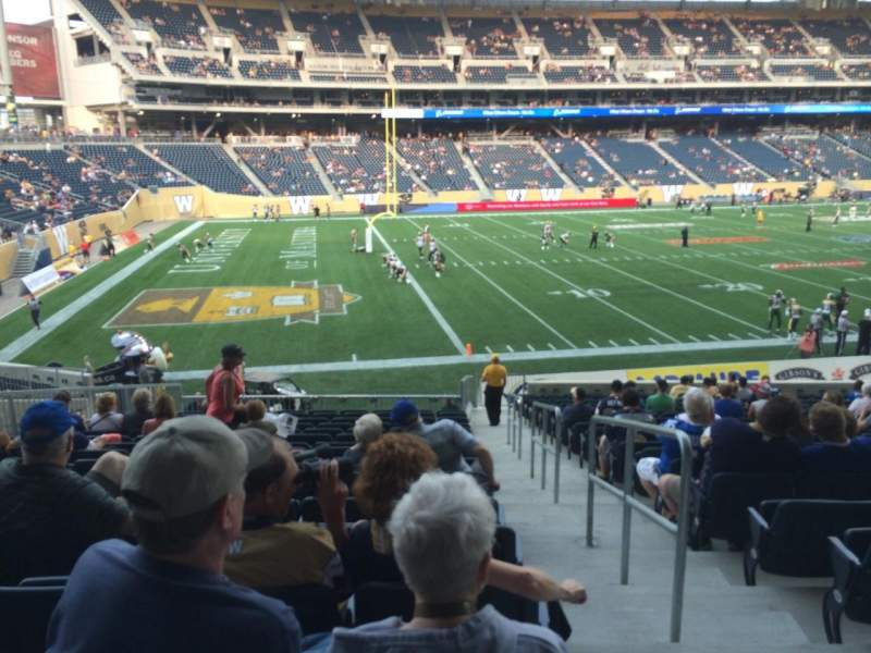 Seating view for Investors Group Field Section 135 Row 23 Seat 1