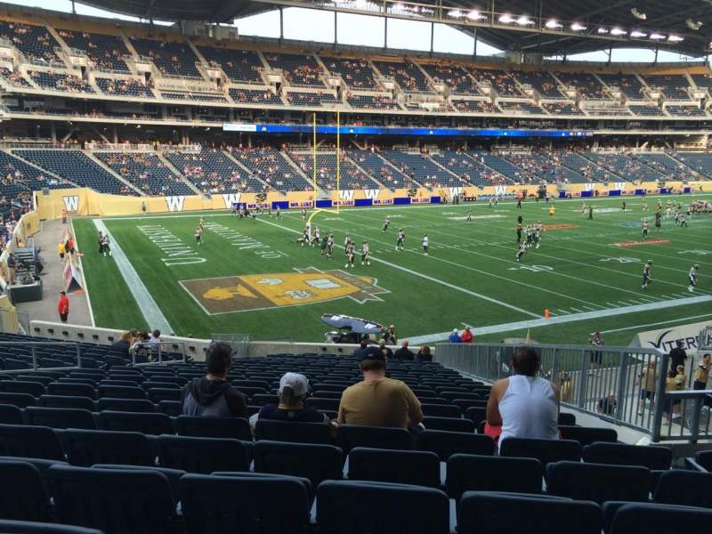 Seating view for Investors Group Field Section 136 Row 24 Seat 9