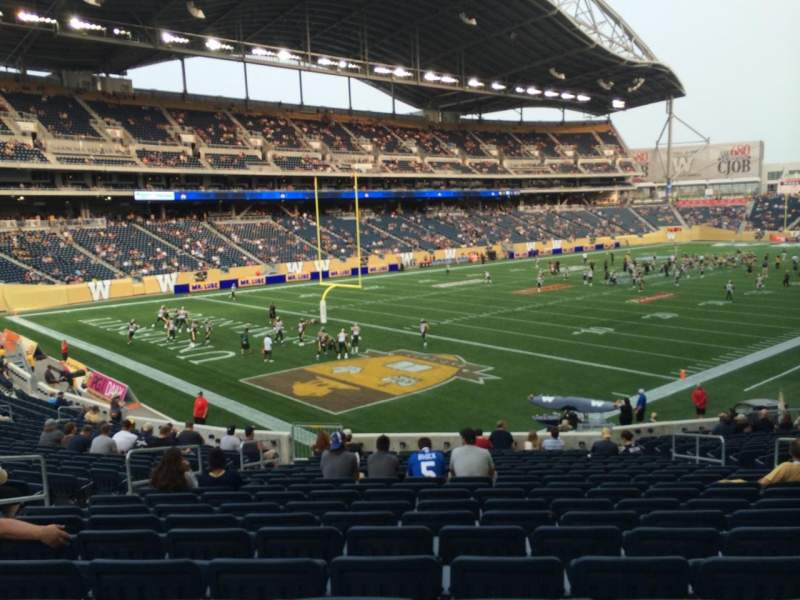 Seating view for Investors Group Field Section 137 Row 25 Seat 10