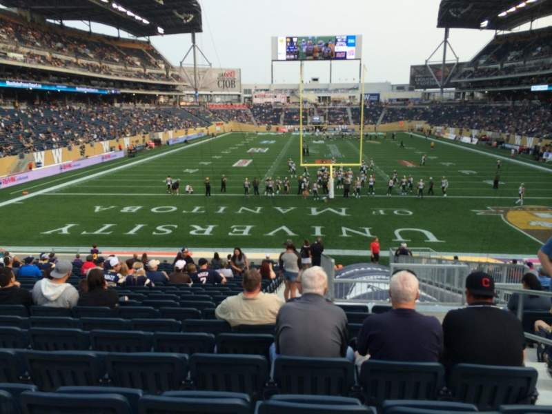 Seating view for Investors Group Field Section 141 Row 24 Seat 3