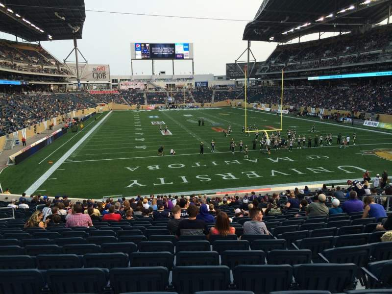 Seating view for Investors Group Field Section 142 Row 28 Seat 11