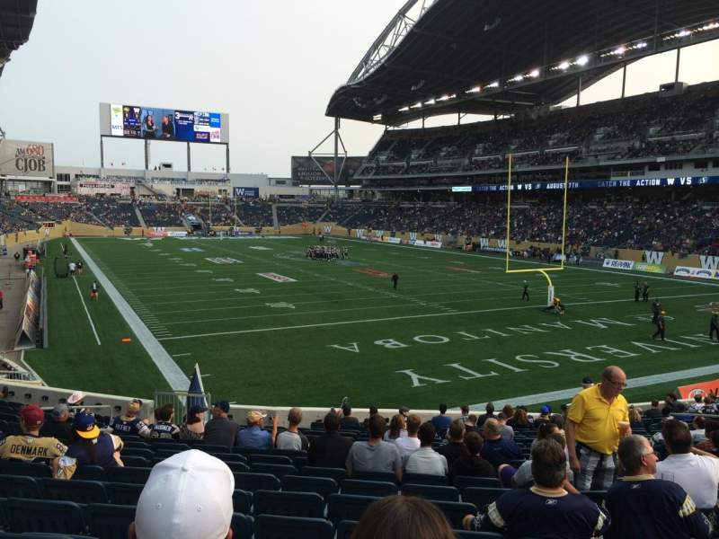 Seating view for Investors Group Field Section 143 Row 22 Seat 16