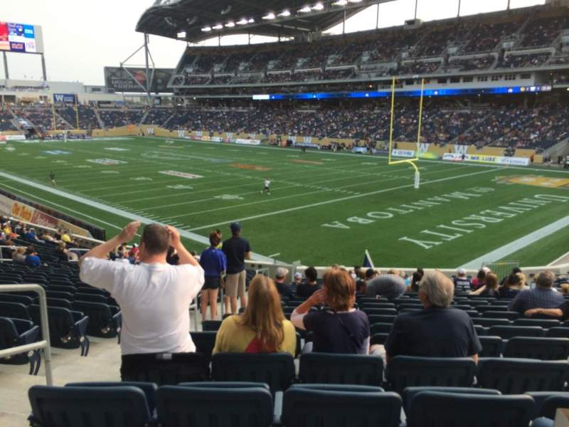 Seating view for Investors Group Field Section 144 Row 25 Seat 17