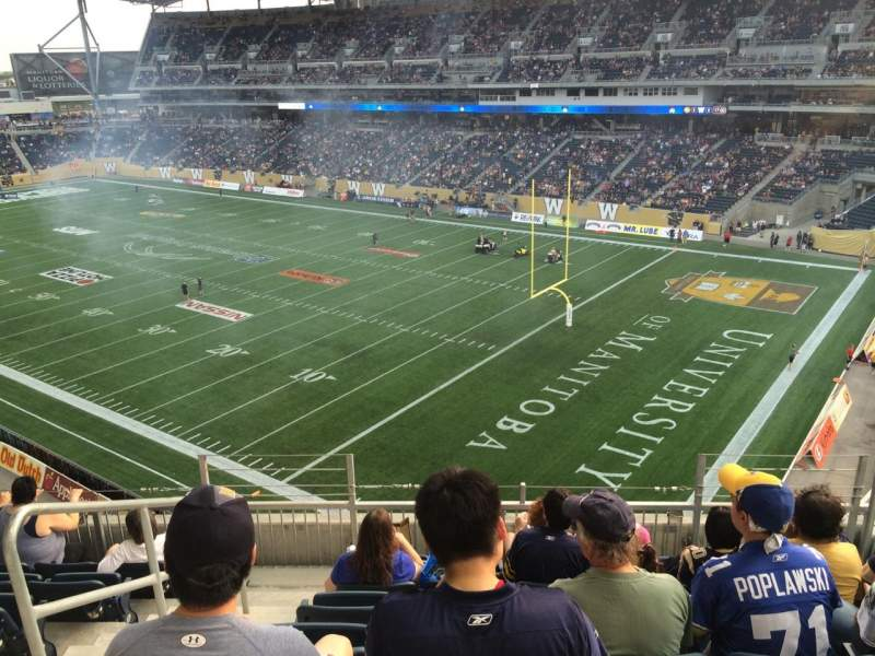 Seating view for Investors Group Field Section 201 Row 7 Seat 3