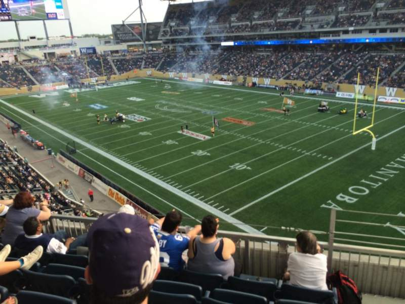 Seating view for Investors Group Field Section 202 Row 5 Seat 1