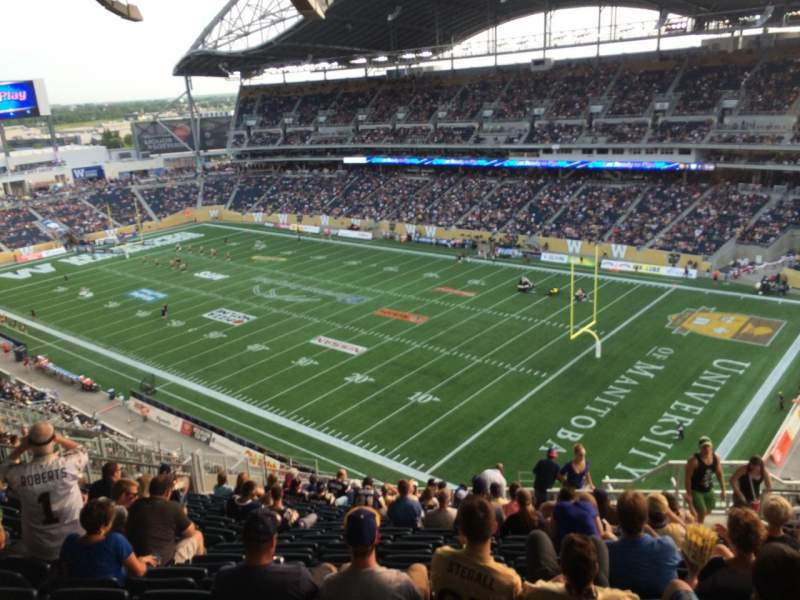 Seating view for Investors Group Field Section 202 Row 25 Seat 6