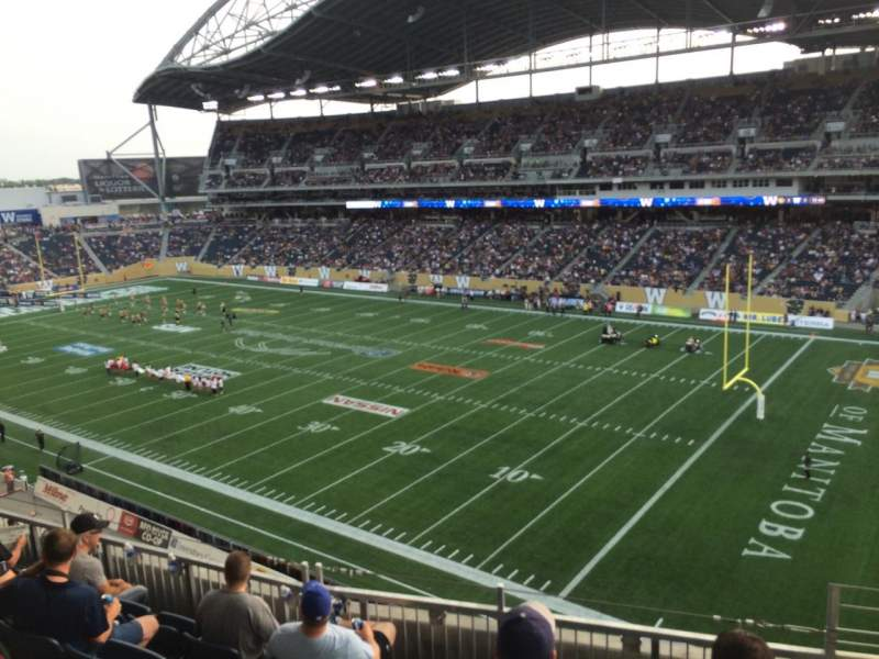 Seating view for Investors Group Field Section 203 Row 6 Seat 1