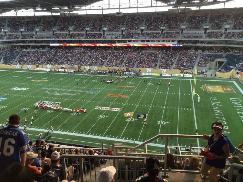 Seating view for Investors Group Field Section 205 Row 18 Seat 1