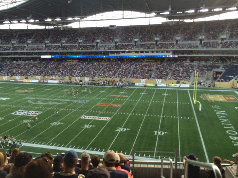 Seating view for Investors Group Field Section 205 Row 6 Seat 1