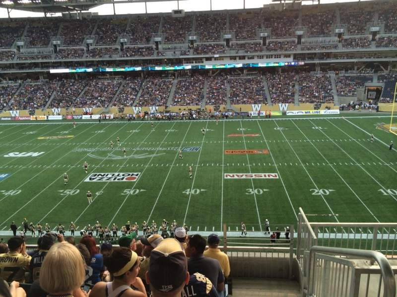 Seating view for Investors Group Field Section 207 Row 6 Seat 1