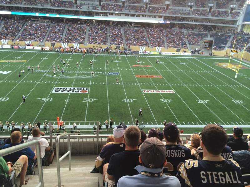 Seating view for Investors Group Field Section 207 Row 6 Seat 19