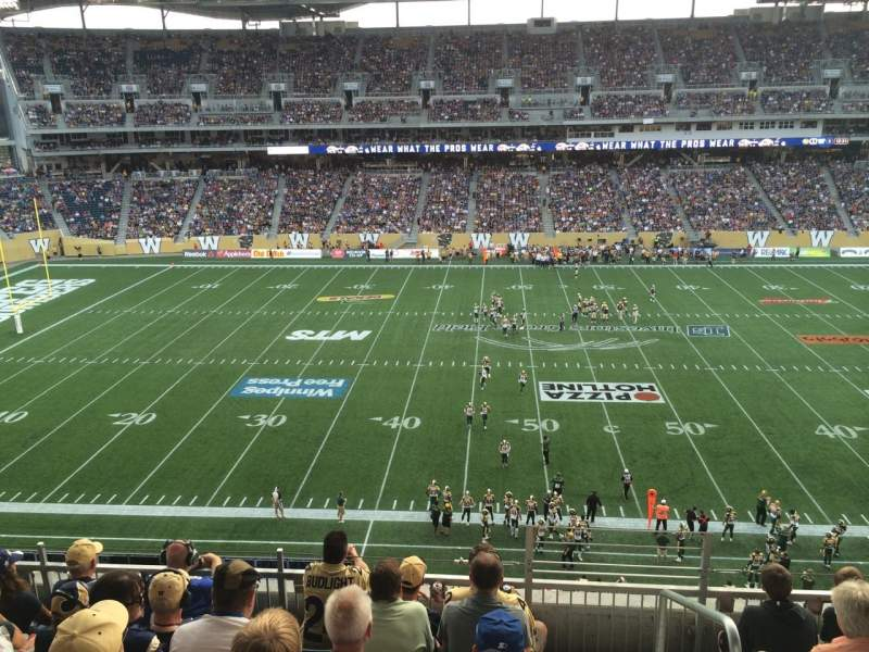 Seating view for Investors Group Field Section 209 Row 6 Seat 1