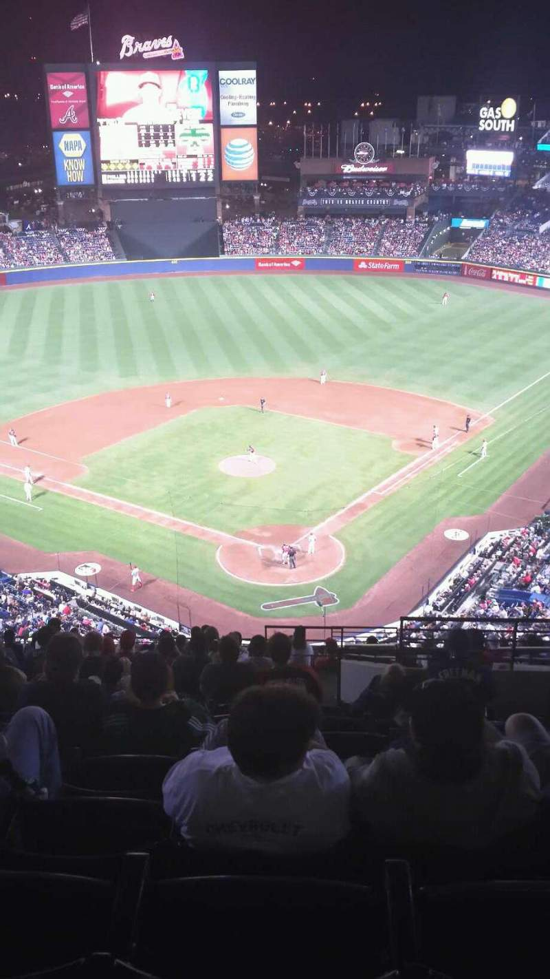 Seating view for Turner Field Section 402L Row 18 Seat 104