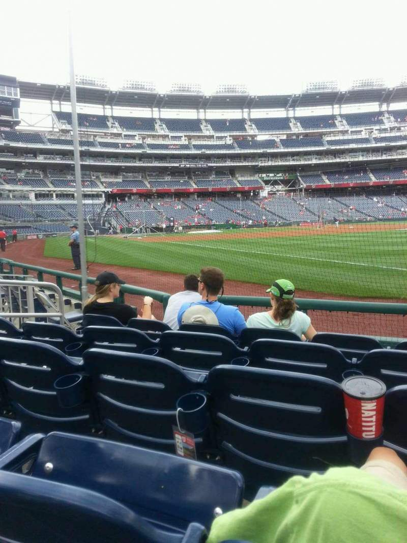 Seating view for Nationals Park Section 135 Row E Seat 4