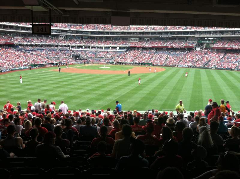 Seating view for Nationals Park Section 141 Row X Seat 6