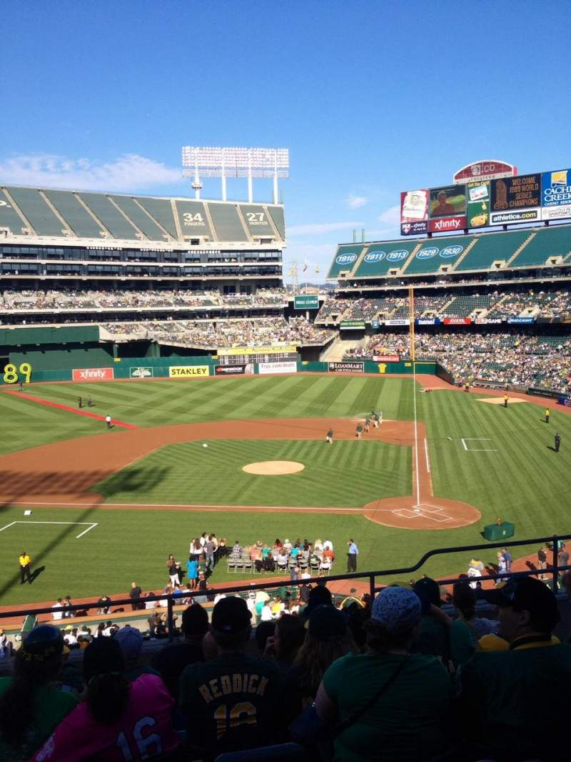 Seating view for Oakland Alameda Coliseum Section 220 Row 7 Seat 15