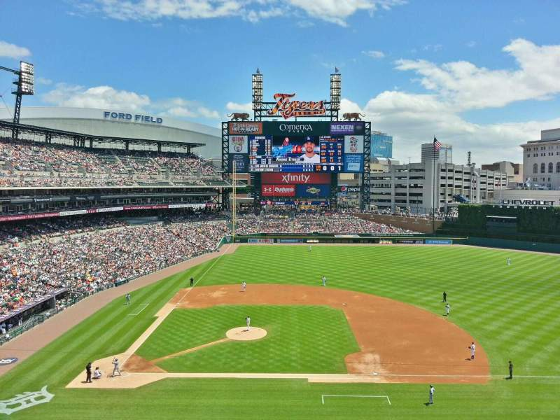 Seating view for Comerica Park Section 322 Row A Seat 6