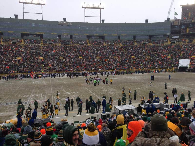 Seating view for Lambeau Field Section 118 Row 23 Seat 17