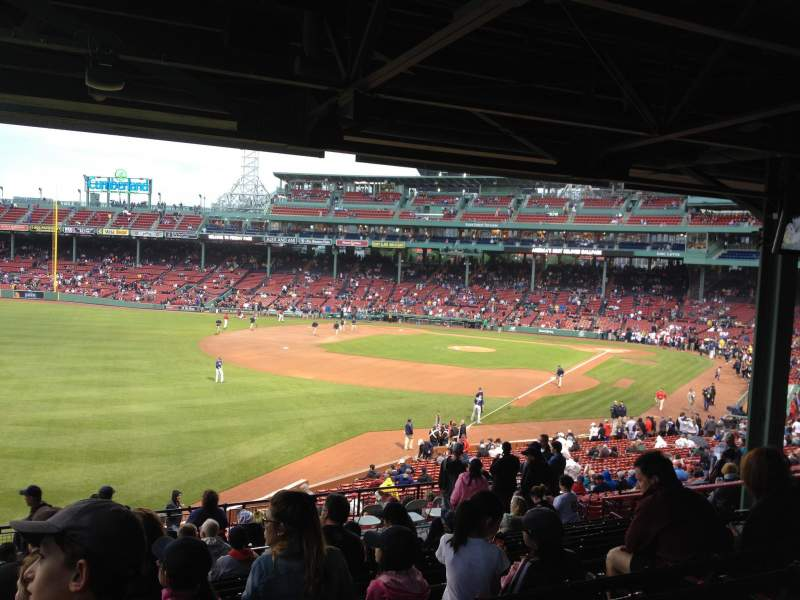 Seating view for Fenway Park Section GrandStand 32 Row 14 Seat 26