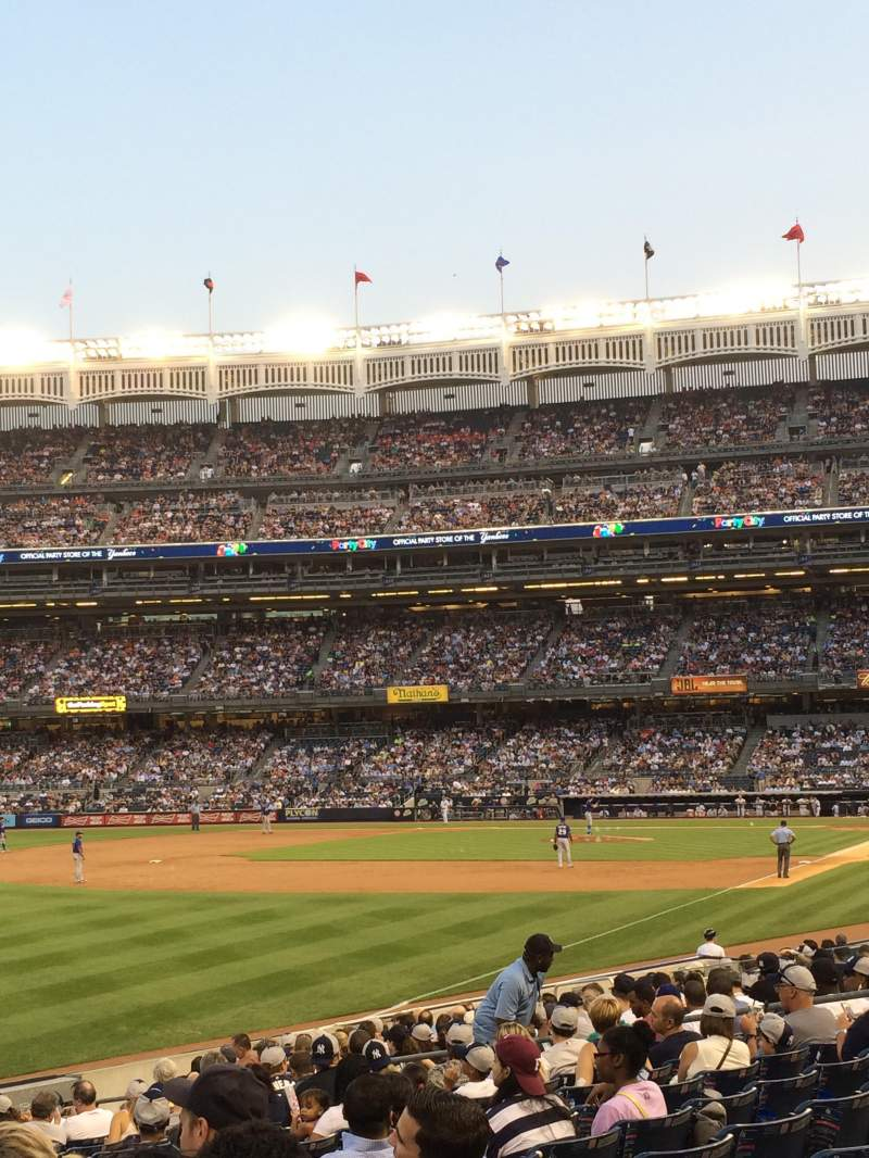 Seating view for Yankee Stadium Section 130 Row 18 Seat 19